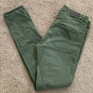 H and M green chinos